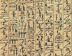 Example of ancient egyptian hieroglyph writing, Papyrus of Ani