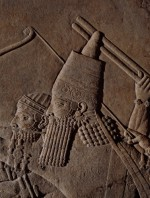 Detail from relief depicting Ashurbanipal
