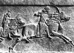 Relief of Ashurbanipal on a hunt