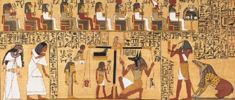 Scene from the Book of the Dead, Papyrus of Ani