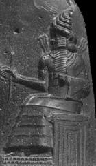 Detail of upper stele of Code of Hammurabi