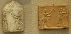 Cylinder seal and seal impression, late 4th millennium BC, Louvre Museum