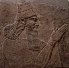 Depiction of Tiglath-Pileser III on a stele